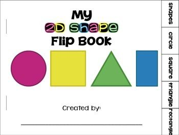 2D Shapes Flip Book {circle, square, triangle, rectangle ...