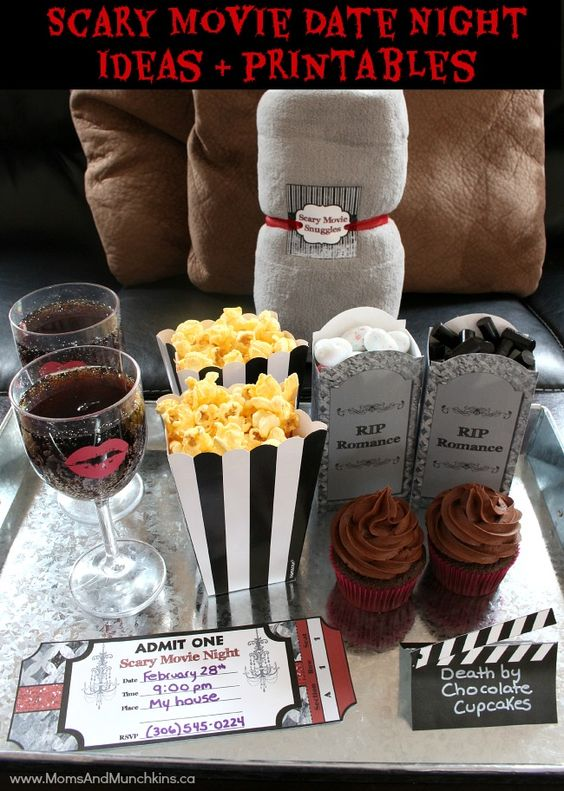 Scary Movie Date Night Idea + Date Night Printables: