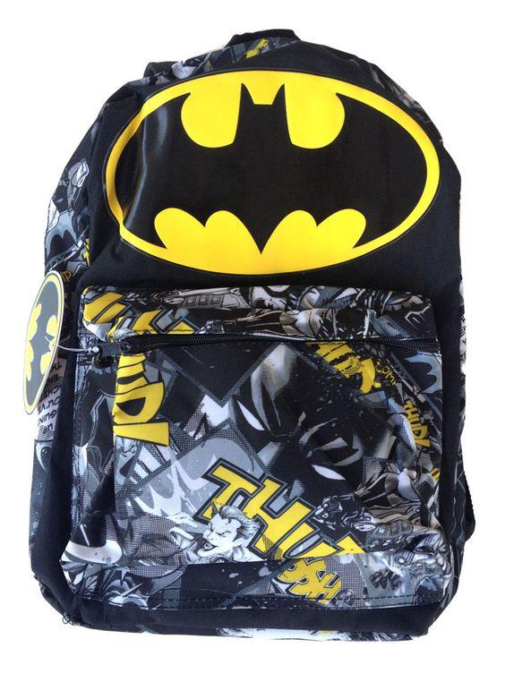 Mochila Batman. Logo grande