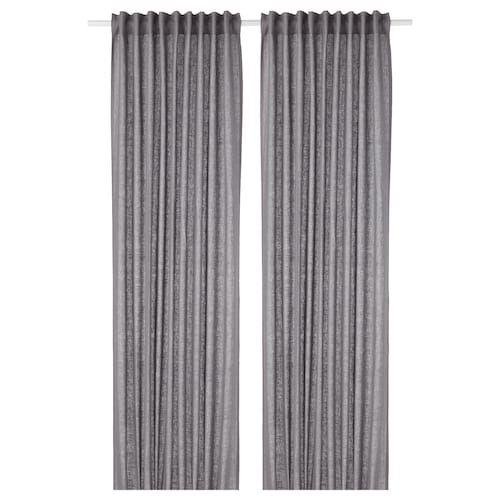 Storslagen Double Curtain Rod Set Black 47 1 4 82 5 8 With