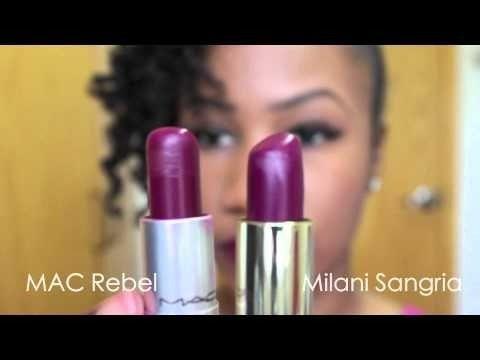 mac rebel dupe milani   MAC Rebel Dupe   Milani Color Statement Lipsticks   Rose Hip, Sweet ...