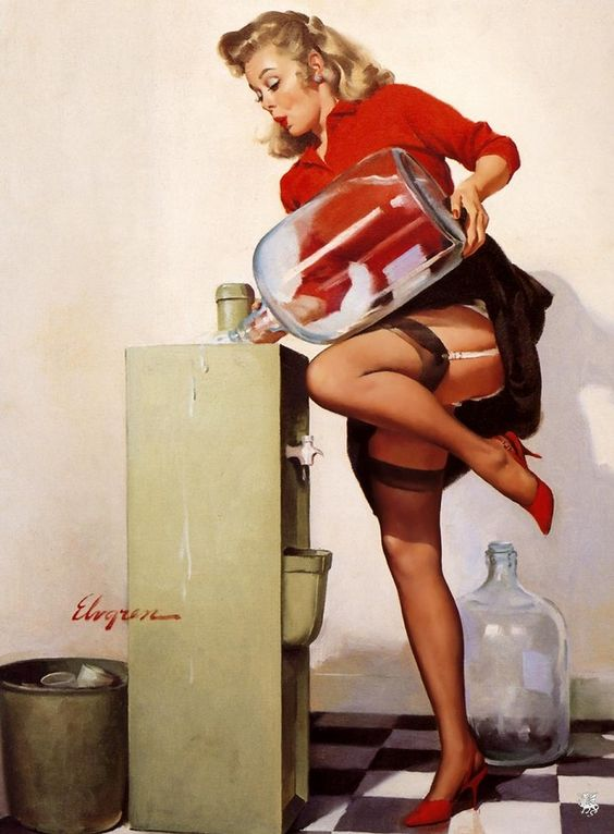 I love pin up girls because they are clumsy, just like me!