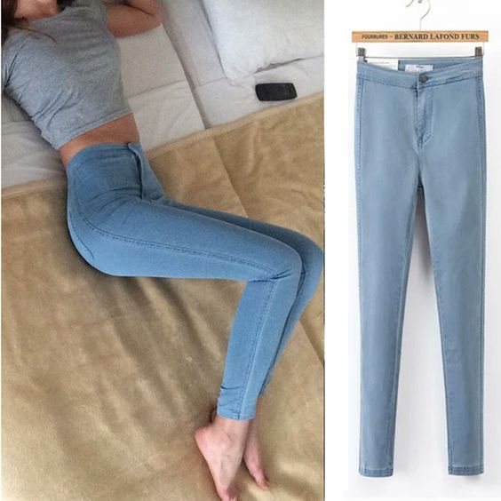 2016 New Arrival Women Skinny Jeans HIgh Waist Ladies Pencil Jeans