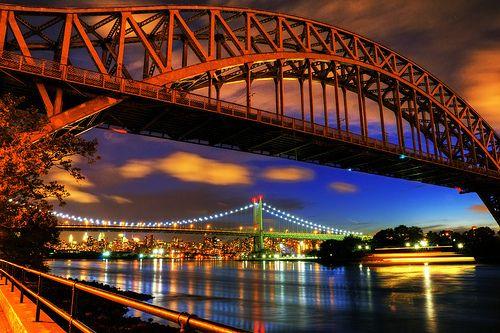 city lights bridge
