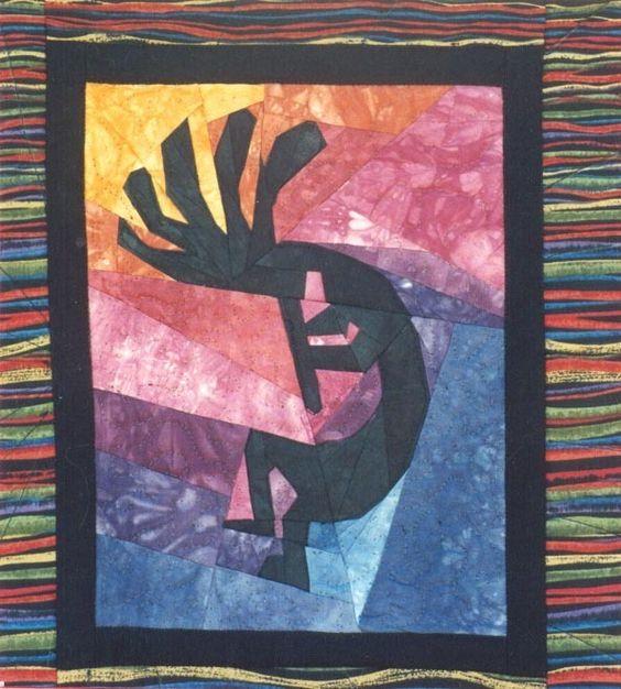 Southwest Kokopelli Paper Piecing Quilt Pattern Linda