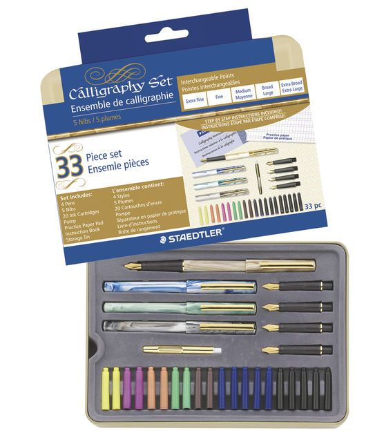"""Calligraphy Pen Set... Ohhh! But i wonder how hard it is to get replacement ink cartridges or if they are """"standard""""?!"""