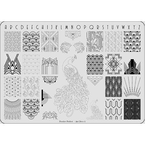 Powder Perfect- Stamping Plates - Art Deco 01