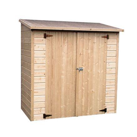 Bricor armario de madera adosado colieto caseta for Casetas para guardar bicicletas