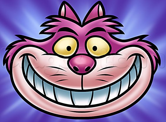 how to draw the cheshire cat step by step