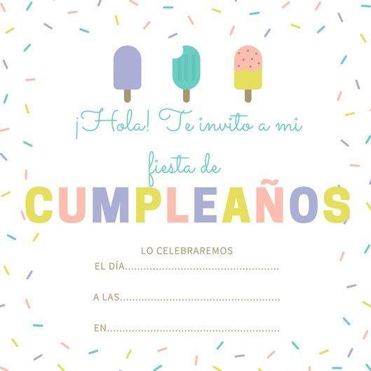 99 Invitaciones De Cumpleaños Para Niños Y Niñas Par