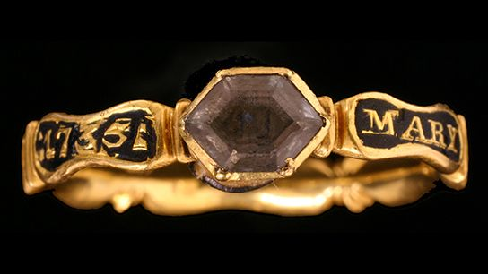 Littleton mourning ring found in Bridgnorth, Shropshire. © Birmingham City Council