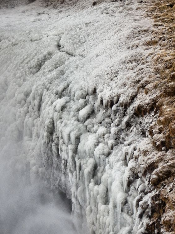 frost and ice, waterfalls