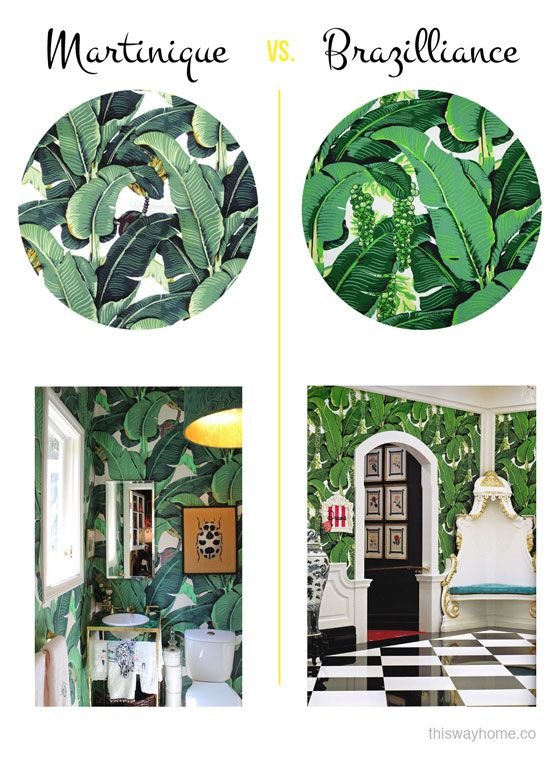 This Way Home | Get the Look: Tropical Leaves | http://thiswayhome.co:
