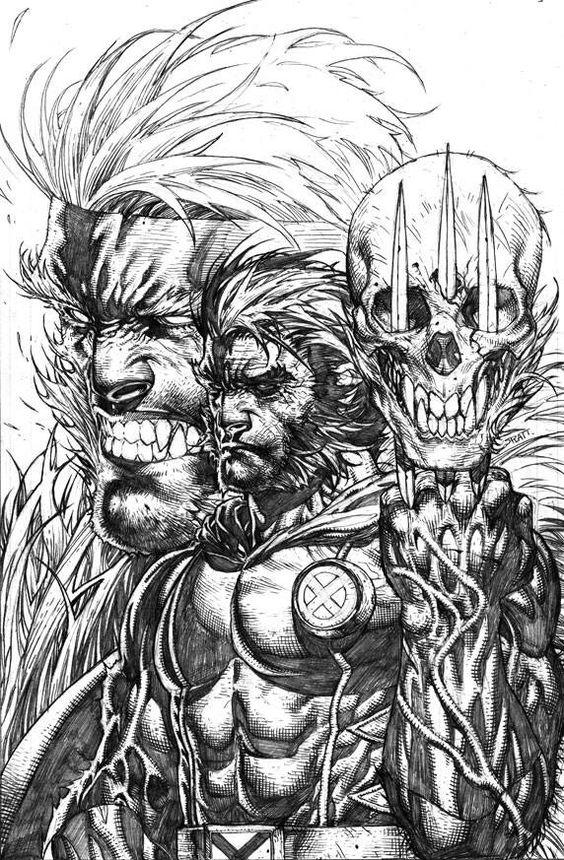 Wolverine/Sabretooth •Stephen Platt