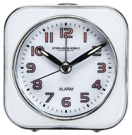 Hometrends Analog Square Alarm Clock White 1 Clock Alarm Clock