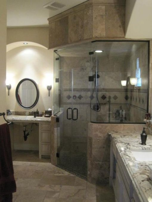 My Steam Shower, We Converted This Into A Wheelchair Accessible Bathroom,  Roll In Steam