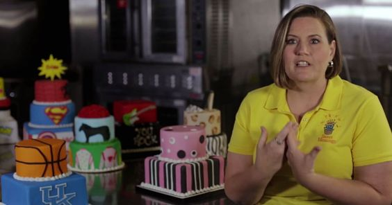 She's expressing God's love through CAKES