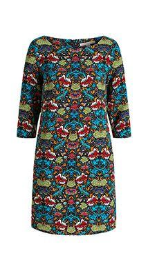 Esprit / Gewebtes Kleid mit Retro-Print