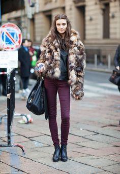 Winter fashion.