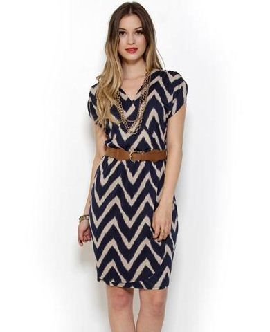 Corey P. Wrap-Style Print Dress with Belt