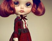Victorian Afternoon - Blythe doll dress- handmade outfit by AlmondDoll