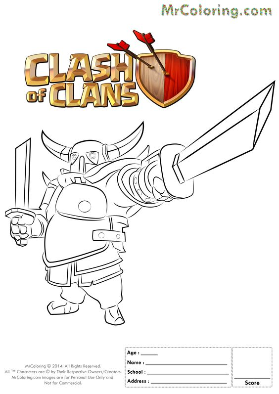 All Coc Troops On One Coloring Page