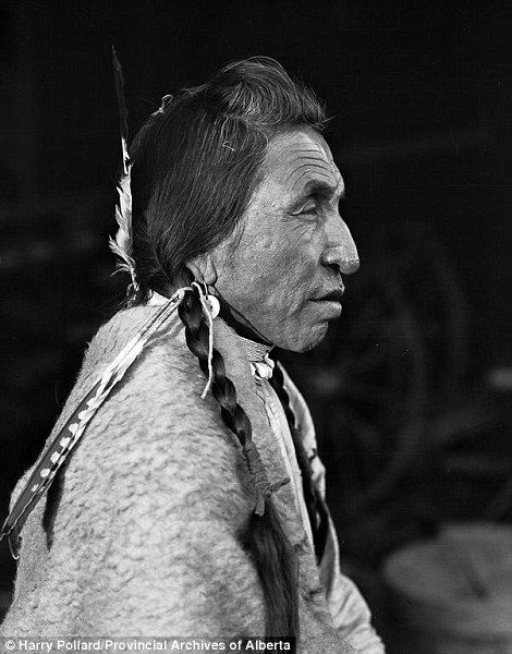 These spellbinding portraits showcase the beauty and resilience of the original settlers of western Canada. Pictured is a tribe member called Red Leggings