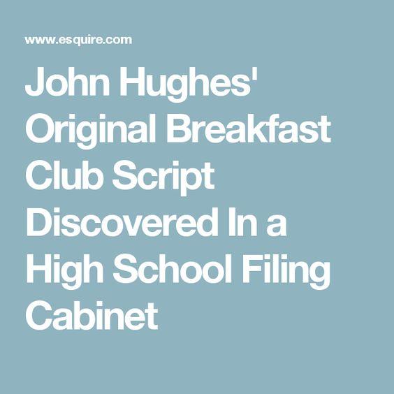 John Hughes' Original Breakfast Club Script Discovered In a High School Filing Cabinet