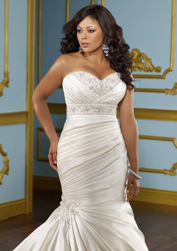 Wedding dresses for tall plus size