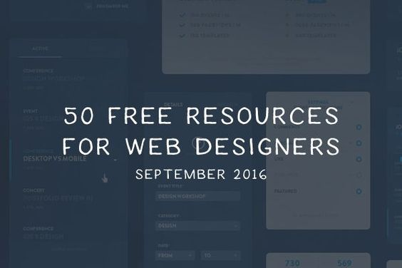 For September's collection of free resources for web designers, we've included…