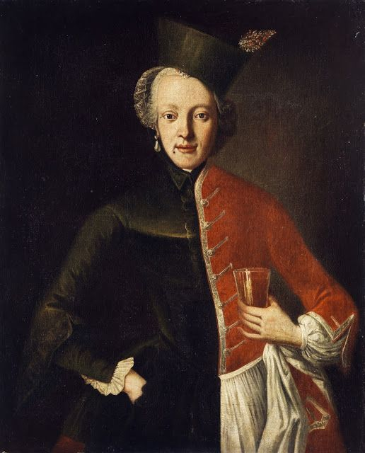 Portrait of a young noblewoman,anon. German painter,18th c.: