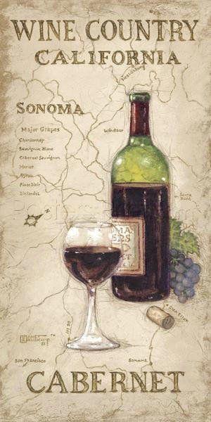 Wine Country II Digital Print Poster by Janet Kruskamp Online On Sale at Wall…