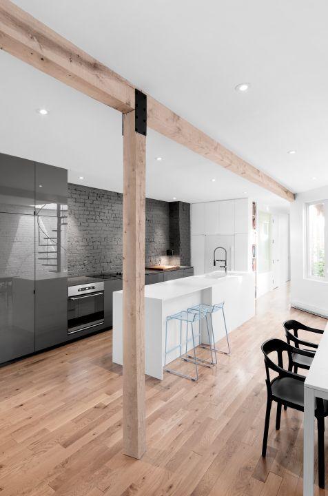 Silestone S Cemento Gray Quartz Countertops In Kitchen Of Montreal