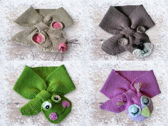 The crochet and knitting is described step by step and incl. a lot of pictures. 4 variants: frog - owl - mouse - bear The instructions are described for 4 sizes. Size:    up to 3 months         6-9 months         12 – 18 months