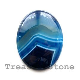 #Cabochon, agate (dyed), 30x40mm oval. #TreasureStone Beads Edmonton.