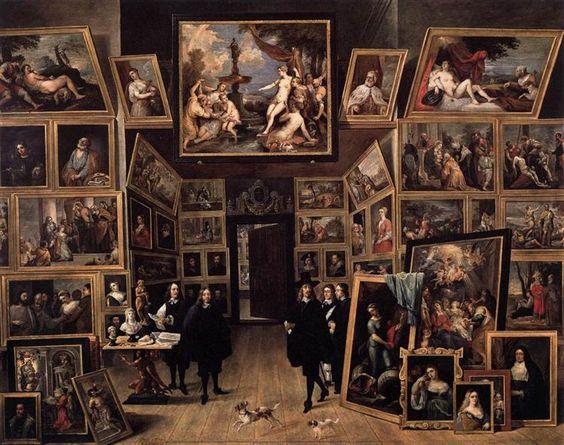 El archiduque Leopoldo Guillermo en su galería de imágenes en Bruselas, 1647 - David Teniers el Joven