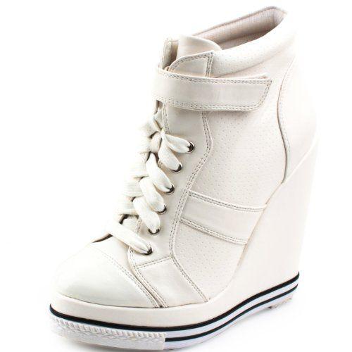 YWWH Women's 886 White Lace Up Wedge Sneaker (6 M US, White) YWWH http://www.amazon.com/dp/B00CXKP2EY/ref=cm_sw_r_pi_dp_9Urrub0JTFNE6