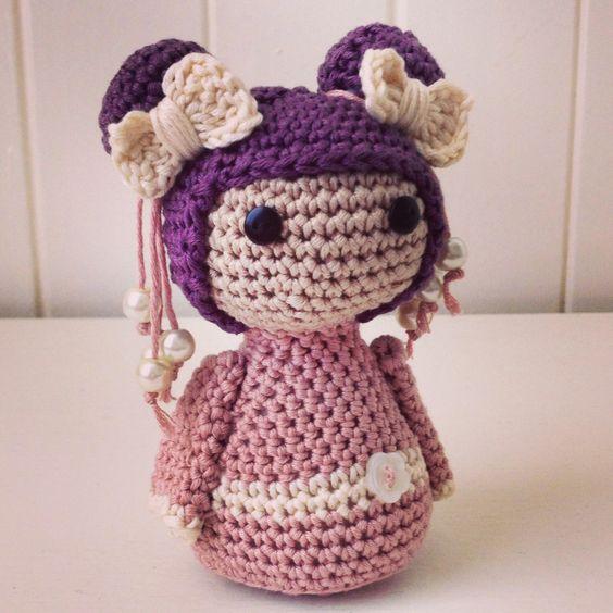 Amigurumi Geisha Tutorial : Crochet Geisha Doll. Amigurumi by Blossom Bazaar Crochet ...