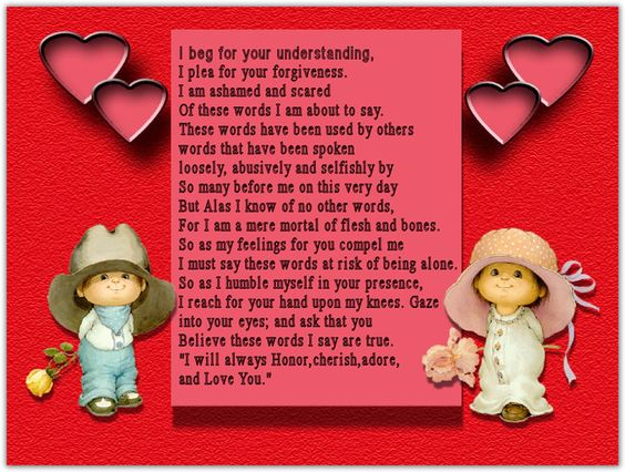 Love Poems for Him Her Your Boyfriend A Girlfriend Husband and ...
