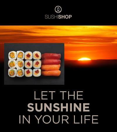 Mit unserer neuen Sunrise Box als Mittags- oder Abendmenü könnt ihr euch die gute Laune eines Sonnenaufgangs jetzt einfach nach Hause liefern lassen!  Ganz schnell bestellt unter  www.mysushishop.de/de/livraison-sushi-boxes/sunrise-699.html