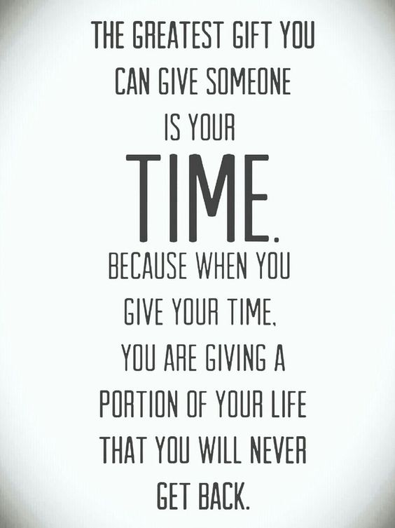 Monday Motivation : The Gift of Time