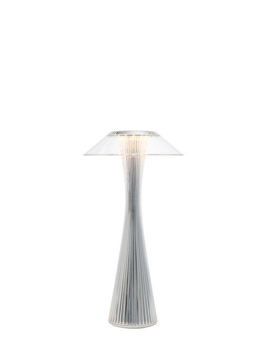 Space Lampe De Table Lampe De Table En Matiere Plastique Transparente A La Forme Elancee La Silhouette Rappelle Les Formes Du Lampes De Table Kartell Lamp