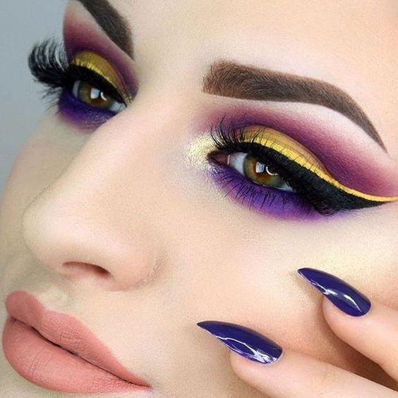 افخم واروع مكياج عيون للمناسبات والحفلات 2019 Amazing And Beautiful Eye Makeup Ideas Colorful Makeup Circus Makeup Eye Makeup