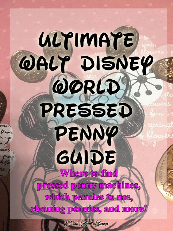 Ultimate Walt Disney World Pressed Penny Guide, Walt Disney World Tips, Disney Collectibles