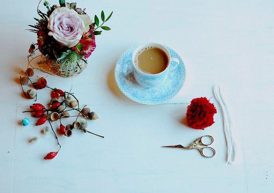 pompom and coffee