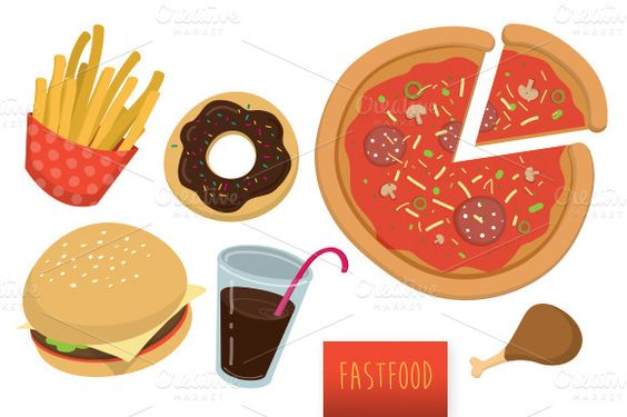 Check out Assorted fast food vector set by Cheeba Ribba Designs on Creative Market
