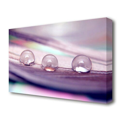 Three Water Drops Graphic Art On Wrapped Canvas East Urban Home Size 101 6 Cm H X 142 2 Cm W Canvas Artwork Framed Wall Art Art