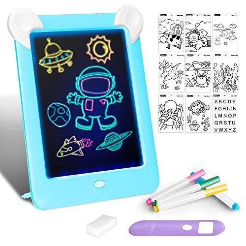 Tableta De Dibujo Pizarra 3d Magico Con Luces Led Educativo Infantil Dibujo Marco De Fotos Regalos Juguetes Juguetes Para Ninas Juguetes Juguetes Educativos