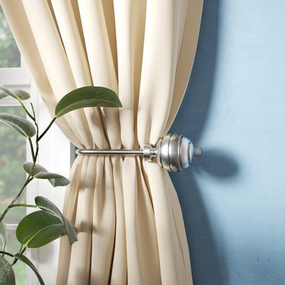 Alcott Hill Pepin Curtain Holdback Colour Satin Nickel Curtains