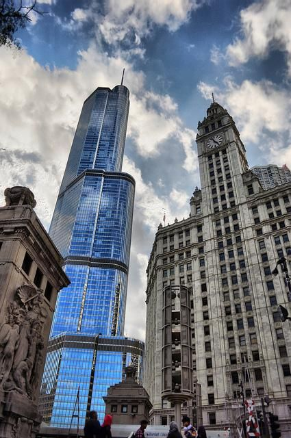 Two favorites - Wrigley & Trump -- Chicago Skyline. See them both on a #CAFcruise! Chicago's best tour as named by Chicago Reader and U.S. World and News Report. Cruising daily April - November. cruisechicago.com